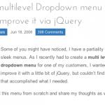 jQueryを使ったドロップダウンメニュー