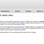 Macの色んな場所の温度を計れるアプリ-Temperature Monitor