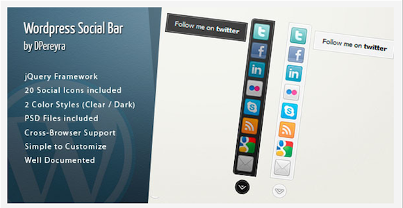 Plugins – WordPress Social Bar | CodeCanyon