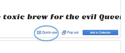 Quick-use をクリック