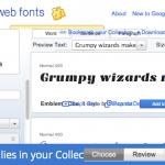 Google web font を使ってみた