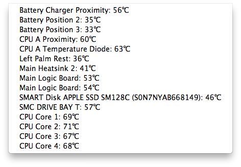Temperature Monitorで温度を測って見た cpu 温度
