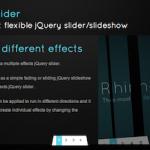 シンプルなスライドショーから変わったエフェクトのスライドショーも簡単に実装できるjQueryプラグイン-Rhinoslider