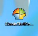 Windows8へ以前のようなスタートボタンを付けるWindowsアプリ、Classic Shell