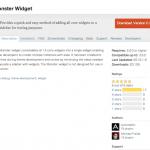 [WordPress] 13個のデフォルトウィジェットを簡単に追加するテーマ開発用プラグイン「Monster Widget」