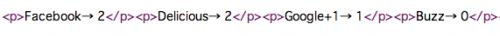SNSごとにカウント表示したソースコード