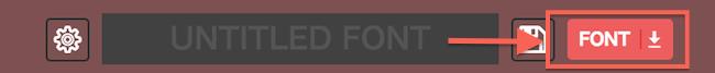 「FONT↓」ボタンをクリック