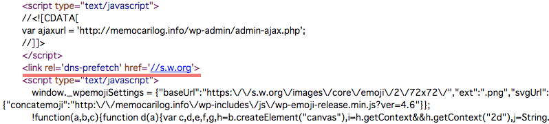 DNSプリフェッチ用のリンクタグ